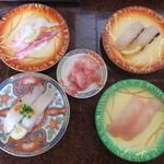 回転寿司 一番亭 - 地場の魚×4