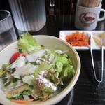 対山館 - セットのサラダ