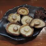 炭鶏家みどり - 焼き野菜(しいたけ)