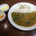CoCo壱番屋 - 印度カレーライス+ほうれん草+ゆでたまご