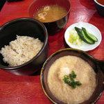 薩摩 茶美豚 とんかつ 花 - 玄米とろろご飯 +210円