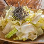 ええとこ - 白菜塩コンブサラダ 生の白菜っておいしいんです。