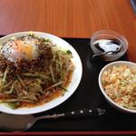 香萬里 - 冷し坦々麺と半チャーハン 900円