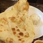インドレストラン Shama - 焼きたてナンはモチモチしてて甘い〜+゚。*(*´∀`*)*。゚+