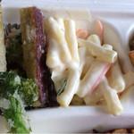 KOREAN EXPRESS - 野菜の素揚げ!これ美味い!〜マッカロニサラダ!うん!マカサラ!!いーねー!どれも美味い!