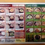 28638089 - 写真入りメニュー セット・丼物・ご飯物