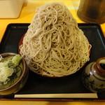 味奈登庵 - 富士山もり 500円 そびえ立つ蕎麦に後悔の念が…もう笑うしかない。