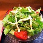うなぎ 割烹 檜 - うなぎ 割烹 檜 @佐野 鰻御膳 豆腐とキャベツと水菜のサラダ