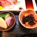 うなぎ 割烹 檜 - うなぎ 割烹 檜 @佐野 鰻御膳 鮪角煮こんぶ添えとお新香