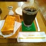 シャノアール 向ケ丘遊園店 - アイスコーヒー&トースト
