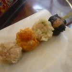 28650030 - 「食べくらべ串 (500円)」、1串で4度美味しい!