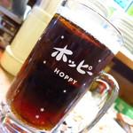 味よし 焼鳥 - ホッピー(黒)453円