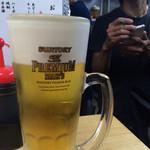 堂島精肉店 - 生ビール(¥600)