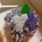ロンドン カップケーキ - バニララベンダー 370円