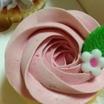 ロンドン カップケーキ - バニラストロベリー350円
