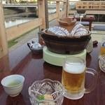 新三浦 - 本日は鴨川床で水炊き( ^ ^ )/■