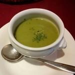 28672390 - ほうれん草と空豆のスープ♪