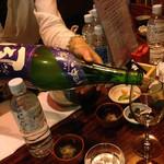 后バー有楽 - 浪乃音 夏吟醸酒 風