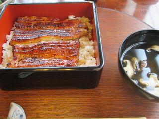 日本料理 梅林 - うなぎ定食(うな重&きも吸い)¥3880@'14.6.上旬