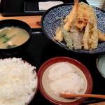 米福 - 米福天ぷら定食【790円】ごはん大盛り