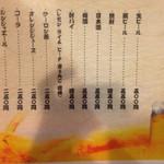 Shinhachi - メニュー ドリンク