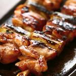 鳥金 - 料理写真:備長炭で焼く ジャンボ鳥金焼き