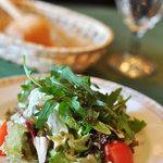 サルターレ - チーズのソースのサラダ