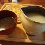 そば切り文目堂 - 蕎麦湯