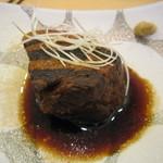 手打ち蕎麦 二村 - 自家製「豚の角煮」(2014/6)
