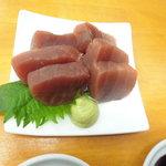 魚介 - 天然生マグロ赤身280円
