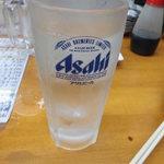魚介 - 麦焼酎水割り250円