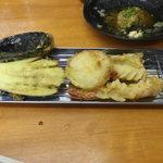 魚介 - 天麩羅~なすび、玉ねぎ、キス、海老