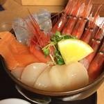 どんぶり茶屋 - 季節のどんぶり。生の甘エビが美味い!!!
