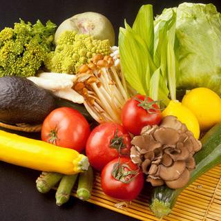 その日に届く新鮮な野菜でしゃぶしゃぶ