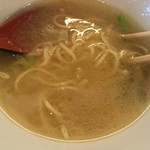 鶏骨スープ 青桐 - 追いスープ投入