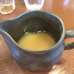 鶏骨スープ 青桐 - 鶏の追いスープ
