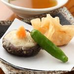 むらの - 海老真署と裏白椎茸の揚物