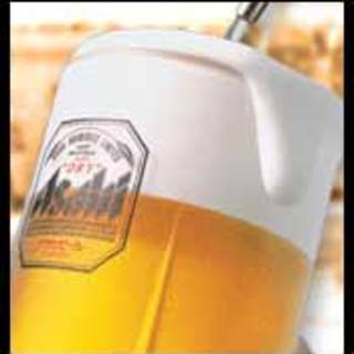 当店の生ビールはアサヒスーパードライ!お値段も299円!