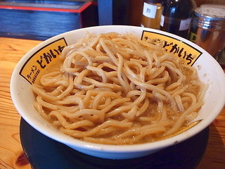 ラーメン どかいち - 麺は生で300gくらいか(2014年5月17日)
