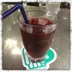 メリーゴーラウンドカフェ - ランチセットの 100%ぶどうジュース