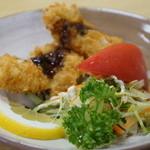 辨慶 - 鱧のフライとサラダ
