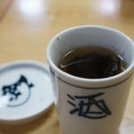 辨慶 - 河豚のひれ酒追加、なんと400円!