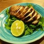 京酒房 藤かわ - 地鶏の塩焼、ジューシーです。