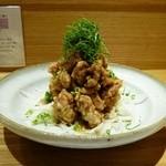 京酒房 藤かわ - 夏季限定、鶏の唐揚げ美味しいソース、最高です。