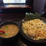 Kawasakiya - 魚介つけ麺1.5玉/780円+味玉/100円