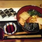 美松寿司 - 干瓢巻+しっぽくうどん