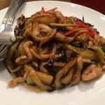 羅山 - 茄子と豚肉の炒め物