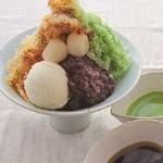 Wadanoya - 料理写真:<和三盆糖>阿波和三盆糖蜜と立てた上質の宇治抹茶をかけてお楽しみください。
