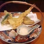 玄海鮨 - 揚物 天麩羅五種 揚げのレベルも高いです