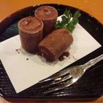 玄海鮨 - デザート 生チョコレートアイス 食べすぎ、飲みすぎの素晴らしい時間でした
